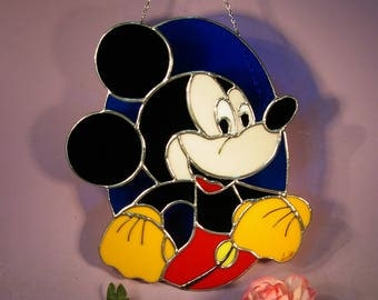 Stained Glass Mickey Mouse  Suncatcher (806)