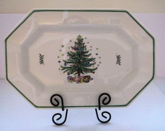 Vintage Christmas Platter by Nikko - Christmastime Pattern Dishes - Holiday Table Decor - Entertaining - Serving Plate - Gift