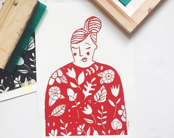 The Red Lady - Screenprint