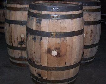 Used Decorative Whiskey Barrel-FREE SHIPPING