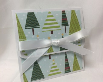 Retro Evergreens Christmas Gift Card Holder