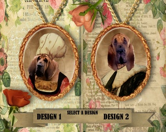 Bloodhound  Jewelry. Bloodhound Pendant or Brooch. Bloodhound Necklace. Bloodhound Portrait. Custom Dog Jewelry by Nobility Dogs.