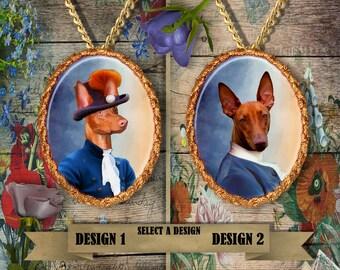 Pharaoh Hound Jewelry. Pharaoh Hound Pendant or Brooch. Pharaoh Hound  Necklace. Pharaoh Hound Portrait. Custom Dog Jewelry.Handmade Jewelry