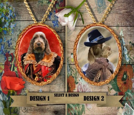 Spinone Italiano Jewelry. Spinone Pendant or Brooch. Spinone Necklace. Spinone Portrait. Custom Dog Jewelry. Dog Handmade Jewelry