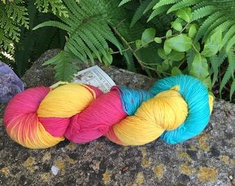 """100grms hand painted merino/nylon yarn """"wool@J13"""""""