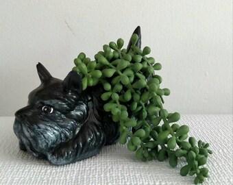 Scottish Dog Planter