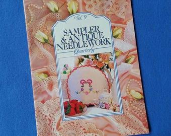 Sampler & Antique Needlework Quarterly, Vol. 9 1993, vintage needlepoint magazine