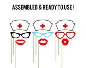 Nurse Photo Booth Props . Doctor Photo Booth Props . Photo Booth Props . Nursing . BSN . RN Graduation . Set of 9