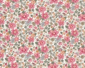 NEW SEASON Fat eighth Aloha Betsy A Liberty print, coral and sage green tropical floral Liberty of London tana lawn