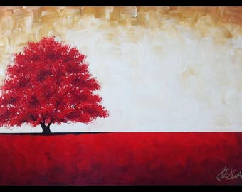 Lumina Solitary, an original 18x36 oil painting by Jo Edwards