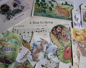 Spring Easter Scrap Images Pack, 100+ Pieces for Art/Scrapbooking/Journaling