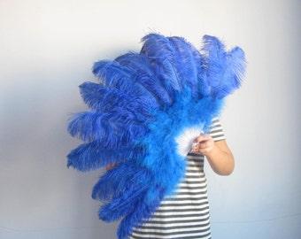 50*90cm Large  Burlesque Dance  feather fan Bridal Bouquet Royal Blue,turquoise,white,red,black