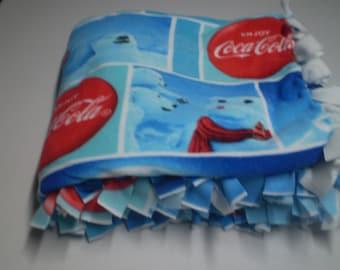 Coca Cola Fleece Blanket, Polar Bears, Warm, Heavy Throw