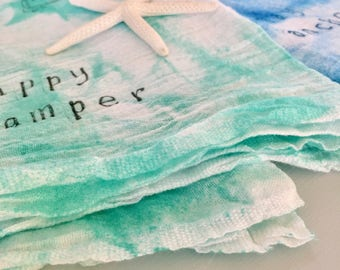 Flour Sack Towel | Dish Towels Funny | Kitchen Towels | Tea Towel | Hostess, Housewarming Gift | Happy Camper, Stay Anchored, Blue, Green