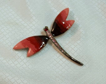 1980's Hombre Enameled Butterfly Fashion Brooch