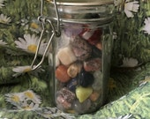Mystery Jar Gemstone Surprise Mixed Lot Wholesale Vintage Tumbled Stones Semiprecious Crystals Minerals Rocks Instant Collection