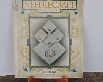 Vintage Needlecraft Magazine March 1924