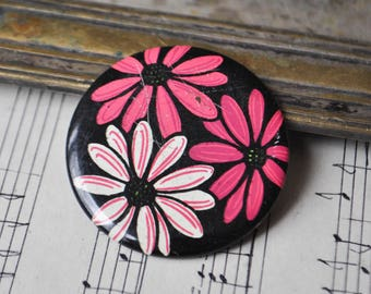 "Vintage Soviet Russian tin badge,pin.""Flower"""
