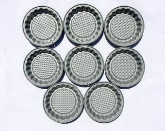 Tartlette Mini Pie Tins Vintage Teflon Coated Set of Eight