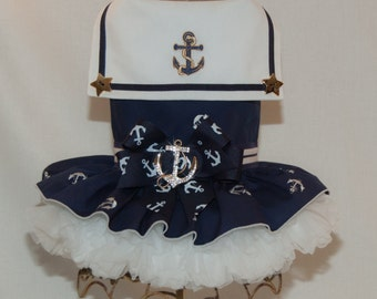 Sailor Girl Navy Vest