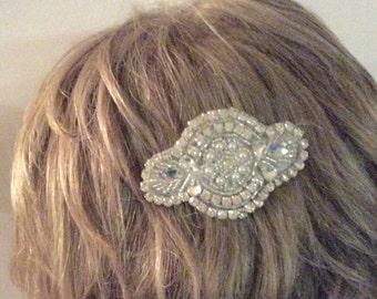 Bridal hair comb wedding comb rhinestone comb bridal comb bridal accessories  pearl crystal comb