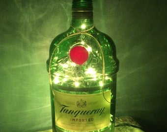 Liqueur bottle lights/ Tangueray bottle light/ accent light/ gin bottle/ 1.75L bottle light/ large bottle/ wine bottle lights