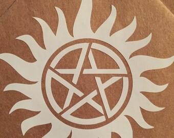 Supernatural Anti-possession Decal