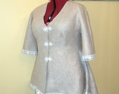 Custom order for Diane                Beautiful Nuno felted coat  .  Reversible  2 in 1