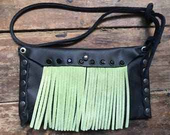 Wear 100 Ways Phone Case Pouch Lime Fringe