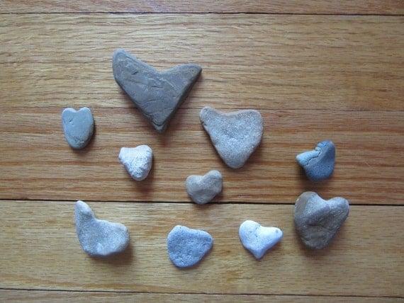 Basket Making Supplies Indiana : Natural heart shaped stones lake michigan jewelry