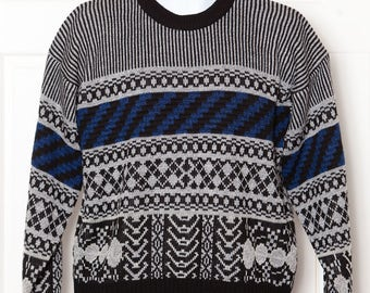 Vintage 80s Men's Sweater - EXPRESSIONS - M