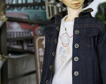 SAYOKO outfit for SD17 Boy dollfie 1/3 BJD - denim jacket - blue (No.E480)