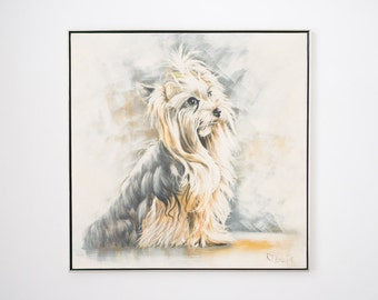 Large Yorshire Terrier Painting