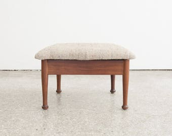 Mid Century Danish Lift Top Foot Stool / Ottoman