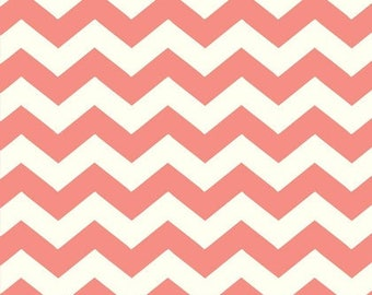 """END OF BOLT - 16.5"""" X 44"""" - Coral Chevron From Adorn It's Coral Owl Collection"""