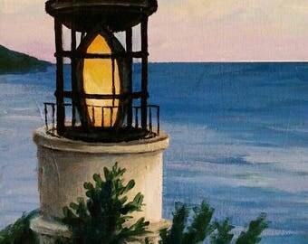 Lighthouse 11x14 Acrylic on Canvas