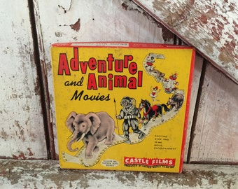 8MM Film Adventure and Animal Movies Castle Films Produced by United World Films Inc