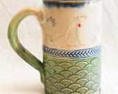 dog ceramic 16oz coffee mug stoneware 16B082