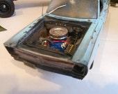Scale Model Auto, Blue Car, 1/24 Scale Model, Classicwrecks, Barn Find,PlymouthCar,MoparMuscle