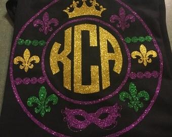 Mardi Gras Monogram T-Shirt