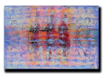 """Art  Abstract painting Canvas painting Contemporary painting  Original painting Colorful Whirpool  24""""x36"""" Acrylic on Canvas fine art..."""