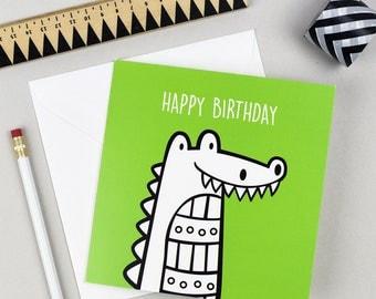 Crocodile Birthday Card | Greetings Card | Kid's Birthday