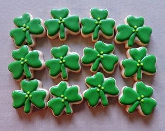 MIni Shamrock Cookies - St. Patricks Day cookies - Irish cookies (#2215)