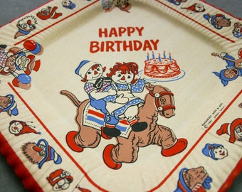 Raggedy Ann & Andy - Party Supply - One Paper Plate and One Napkin