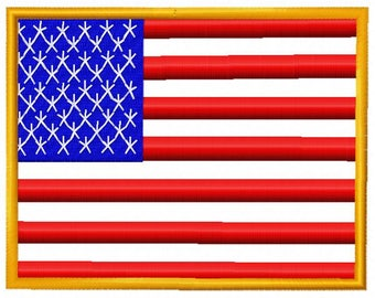 American Flag Embroidery Design - Instant Download