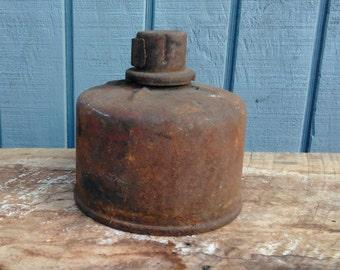 Vintage Smudge Pot - Industrial Decor