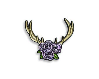 Flower crown lapel pin