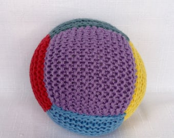 Cotton Baby Ball Rattle - Multi Colour