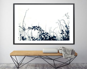 Botanical print Large canvas art prints wall prints black and white poster print modern nature art by Duealberi