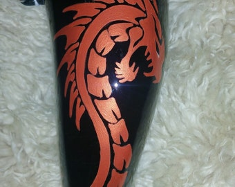 Copper Dragon Drinking Horn